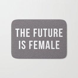 Future Is Female Quote Bath Mat
