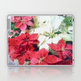 Mixed color Poinsettias 1 Watercolor Laptop & iPad Skin