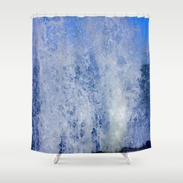 Lake Michigan Natural Fountains #3 (Chicago Waves Collection) Shower Curtain