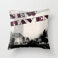 Gun Wavin, New Haven Throw Pillow