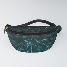 Blue and black Hypergalaxy Fanny Pack