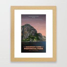 Saguenay Fjord Provincial Park Framed Art Print