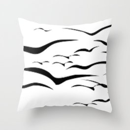 Birds do Fly Throw Pillow