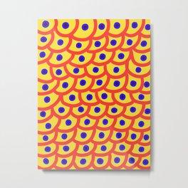 Trypophobia - Yellow Metal Print