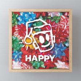 HAPPY CHRISTMAS Framed Mini Art Print