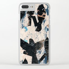 Silhouette bird abstraction Clear iPhone Case