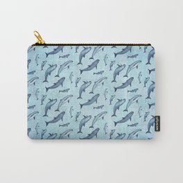 Pattern: Sea of Vaquita ~ (Watercolor Art, Copyright 2015) Carry-All Pouch