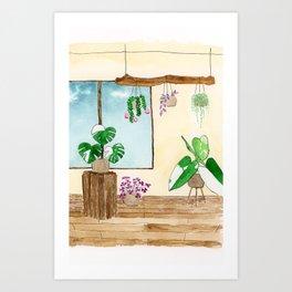 Variegated Plant Room Art Print