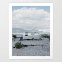 Mexicoast Trailer Life Art Print