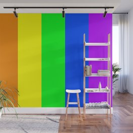 Rainbow flag - Vertical Stripes version Wall Mural