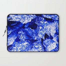 Speckled Blue & White Leaves Laptop Sleeve