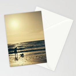 Sunset with the dog. Stationery Cards
