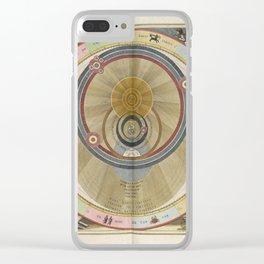 Keller's Harmonia Macrocosmica - Planisphere of Brahe 1661 Clear iPhone Case