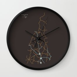 New Hampshire Highways Wall Clock