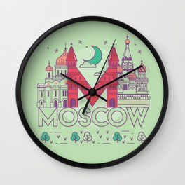 Moscow Russia Wall Clock