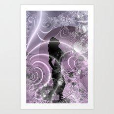 lilac moondance Art Print