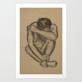 Melancholy Man Art Print