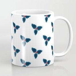 Mistletoe - blue and red Coffee Mug