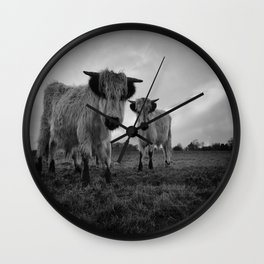 High Park Cow Mono Wall Clock