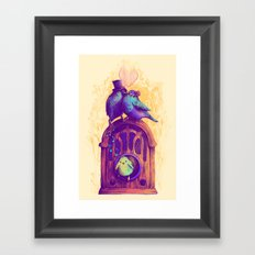LISTEN TO THE SONG Framed Art Print