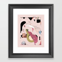 Avocado City Symphony Framed Art Print