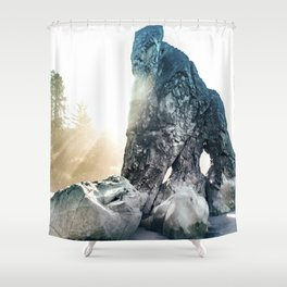 Protector Of Ruby Beach Shower Curtain