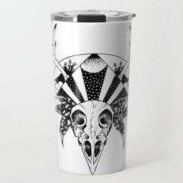 Moon, Star, Skull Travel Mug