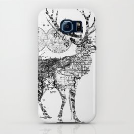 Deer Wanderlust Black and White iPhone Case