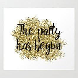 The party has begun - golden jazz Art Print