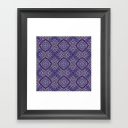 Purple Zen Doodle Pattern Framed Art Print