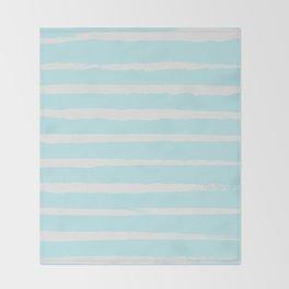 Irregular Hand Painted Stripes Mint Throw Blanket