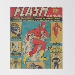 Flash Comic Throw Blanket
