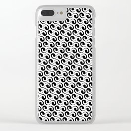 Black and White Deco Clear iPhone Case