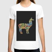 lama T-shirts featuring Lama by Julie Luke