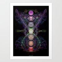 7 Chakras Art Print