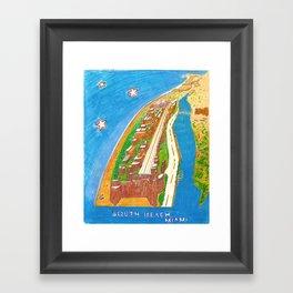 South Beach Framed Art Print