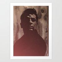 kerouac Art Prints featuring Jack Kerouac by Philipp Banken