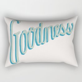 Fruit of the Spirit - Goodness, Hand lettered by Deb Jeffrey Rectangular Pillow