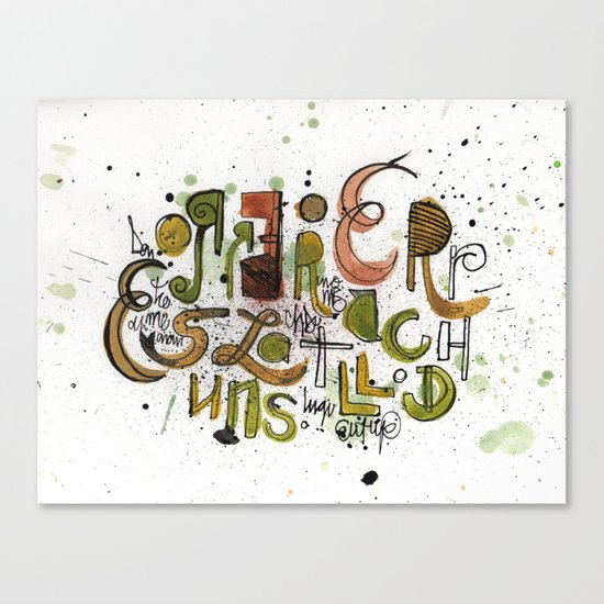 Type cluster Canvas Print