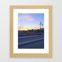 Candy Sunset Framed Art Print