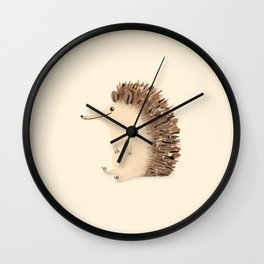 Happy Hedgehog Sketch Wall Clock