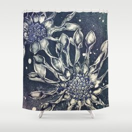 Blue Bell Tunicate Shower Curtain
