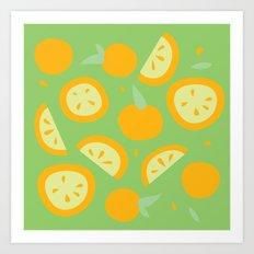 Tropical - Citrus Art Print