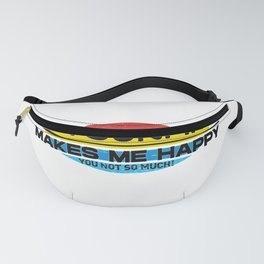 Skysurfing Makes Me Happy You Not So Much  Funny Hobbie Gift Fanny Pack
