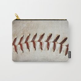 Vintage Baseball Stitching Carry-All Pouch