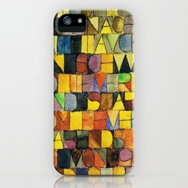 Paul Klee Once Emerged from the Gray of Night iPhone Case