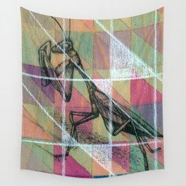 Geometric Mantis Wall Tapestry