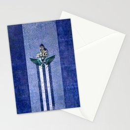 poloplayer blue Stationery Cards