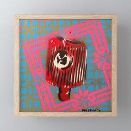 Pink Border Cap Framed Mini Art Print