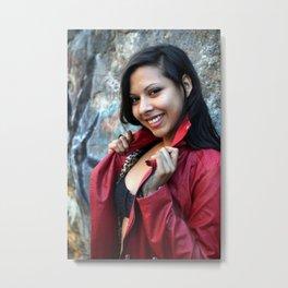 Young Hispanic Woman Metal Print